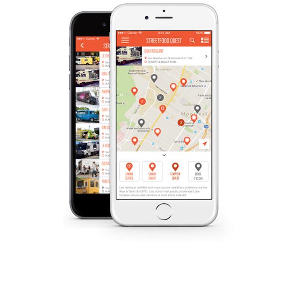 Phone App Streetfood Quest