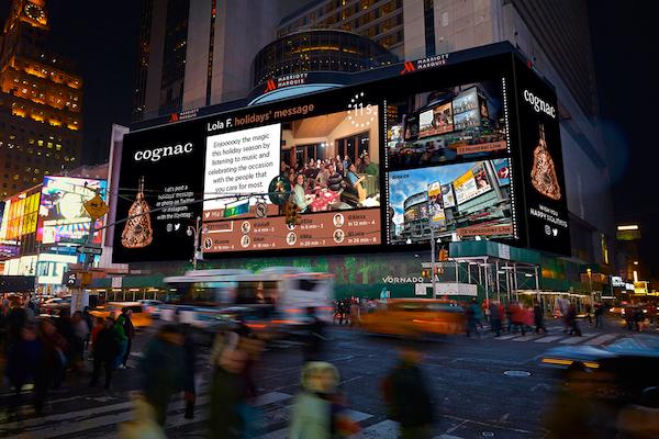 City Street Advertising Cognac Times Square Broadway Screens