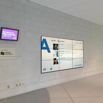 University Montreal Corridor Screen