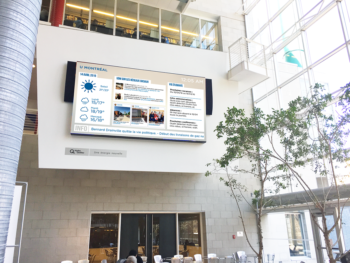 University Montreal Lobby Big Screen